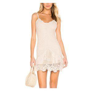 Free People Wowza Ivory Mini Dress. 100% Rayon. XS